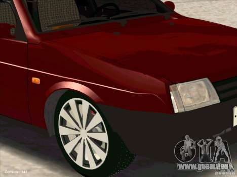 VAZ 2109 hiver pour GTA San Andreas vue de droite