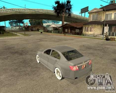 Cheverolet Epica pour GTA San Andreas laissé vue