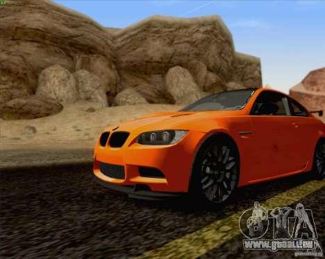 BMW M3 GT-S Fixed Edition pour GTA San Andreas sur la vue arrière gauche
