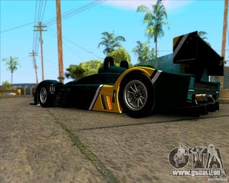 Caterham Lola SP300R pour GTA San Andreas sur la vue arrière gauche