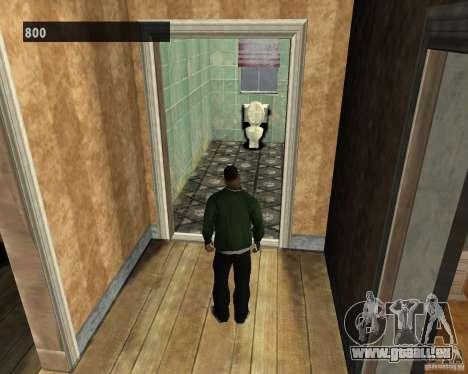 Intérieurs cachés 3 pour GTA San Andreas quatrième écran