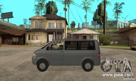 Volkswagen Transporter T5 TDI pour GTA San Andreas laissé vue