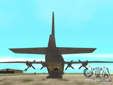 Antonov An-12 pour GTA San Andreas sur la vue arrière gauche
