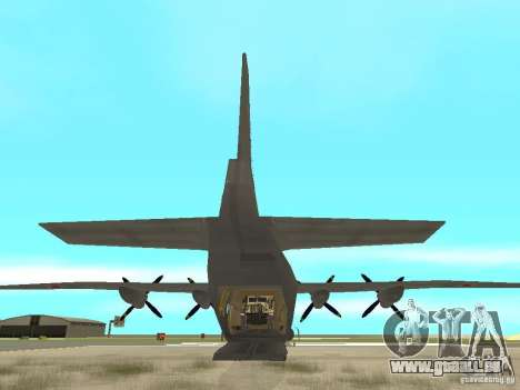 Antonow An-12 für GTA San Andreas zurück linke Ansicht