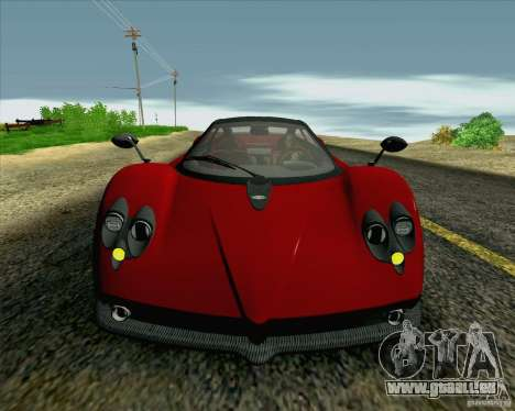 Pagani Zonda F v2 für GTA San Andreas Seitenansicht