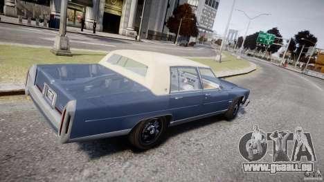 Cadillac Fleetwood Brougham 1985 pour GTA 4 est une vue de l'intérieur