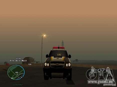Chevrolet Blazer pour GTA San Andreas sur la vue arrière gauche