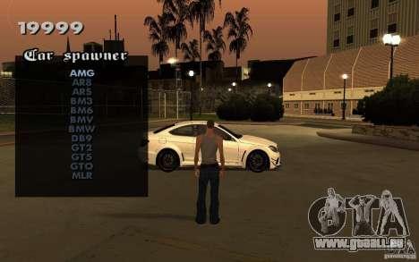 Vehicles Spawner für GTA San Andreas