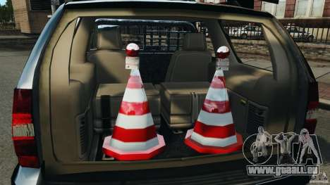 Chevrolet Tahoe LCPD SWAT pour GTA 4 vue de dessus