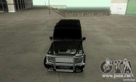 Mercedes Benz G500 ART FBI pour GTA San Andreas vue arrière