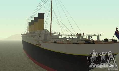 RMS Titanic pour GTA San Andreas laissé vue