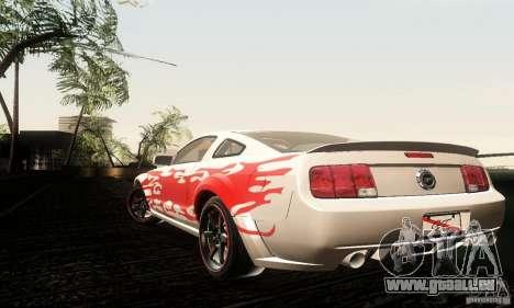 Ford Mustang GT Tunable für GTA San Andreas Rückansicht