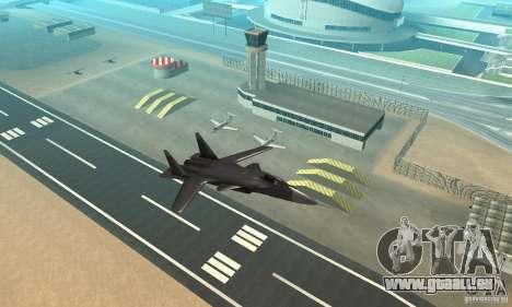Su-47 Berkut Stanardarbeitsplan für GTA San Andreas rechten Ansicht
