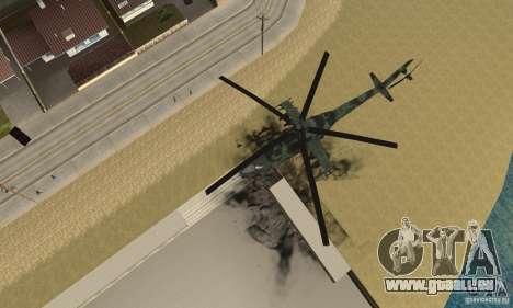 Black Ops Hind pour GTA San Andreas vue de droite