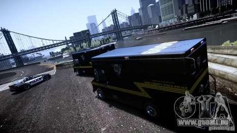 Boxville Police pour GTA 4 Vue arrière de la gauche