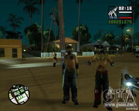 Nouveaux skins pour rainure pour GTA San Andreas quatrième écran