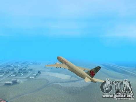 Boeing 767-300 Air Canada für GTA San Andreas rechten Ansicht