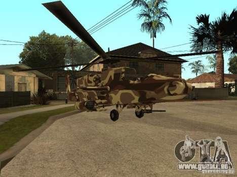 Nouvelles Textures pour le chasseur pour GTA San Andreas laissé vue