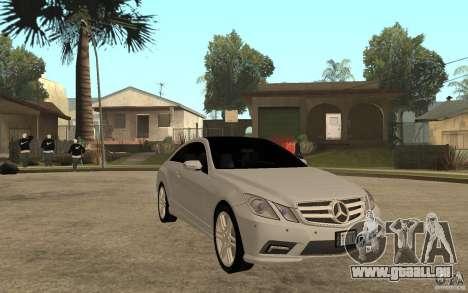 Mercedes Benz E-CLASS Coupe pour GTA San Andreas vue arrière