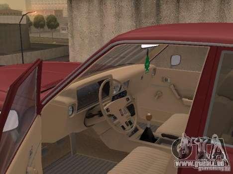 Toyota Cressida pour GTA San Andreas vue intérieure