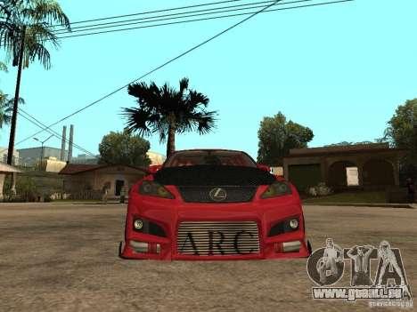 Lexus Drift Car pour GTA San Andreas vue de droite