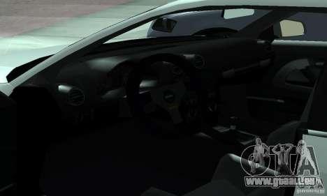 Audi S3 Full tunable pour GTA San Andreas vue intérieure