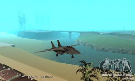 F14W Super Weirdest Tomcat Skin 1 für GTA San Andreas Seitenansicht