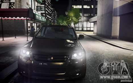Volkswagen Touareg R50 pour GTA 4 Vue arrière