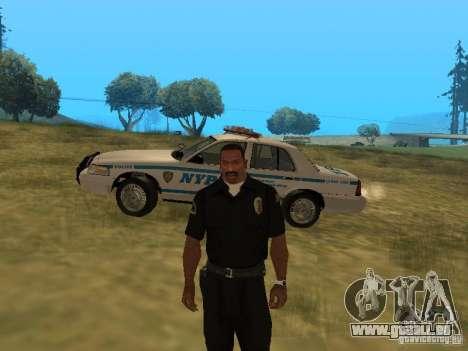 Ford Crown Victoria NYPD Police pour GTA San Andreas vue de dessus