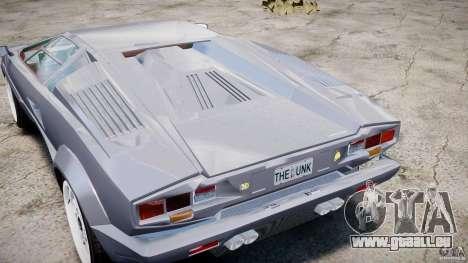 Lamborghini Countach pour GTA 4 est une vue de l'intérieur