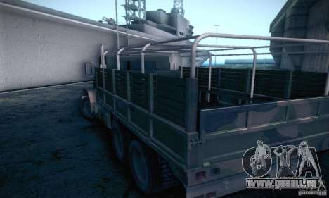 Barracks HD pour GTA San Andreas sur la vue arrière gauche