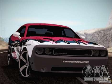 Dodge Challenger SRT8 2010 pour GTA San Andreas vue de dessus