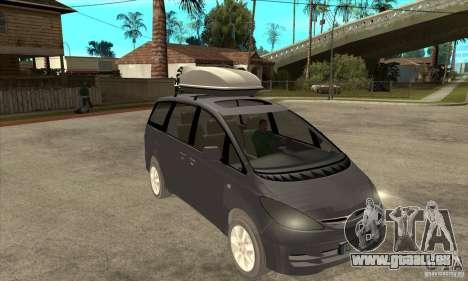Toyota Estima für GTA San Andreas Rückansicht