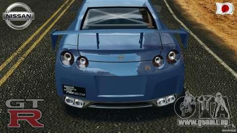 Nissan GT-R 35 rEACT v1.0 pour GTA 4 vue de dessus