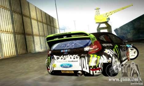 Ford Fiesta Gymkhana 4 für GTA San Andreas Rückansicht