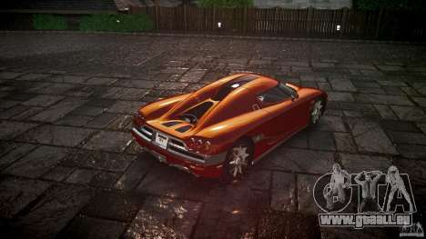 Koenigsegg CCX v1.1 für GTA 4 hinten links Ansicht