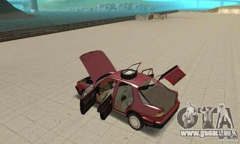Saab 9000 pour GTA San Andreas vue intérieure