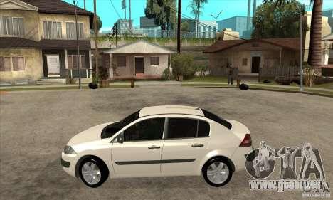 Renault Megane II Sedan pour GTA San Andreas laissé vue