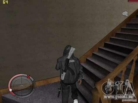 Walk style pour GTA San Andreas quatrième écran