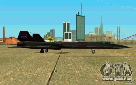 SR-71A BLACKBIRD BETA für GTA San Andreas Rückansicht