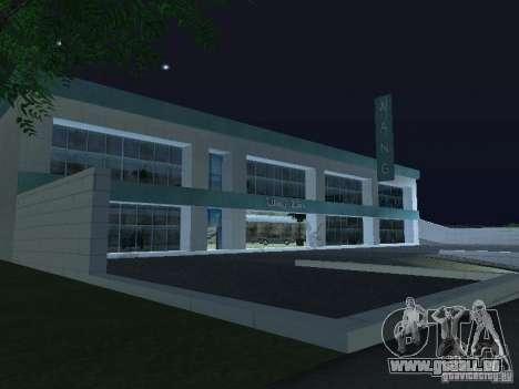 Voitures neuves de Wang-Salon de l'Auto pour GTA San Andreas deuxième écran