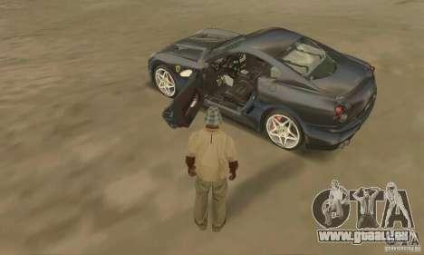 Ferrari 599 GTB Fiorano (schwarze Schönheit) für GTA San Andreas zurück linke Ansicht