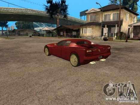HD Cheetah für GTA San Andreas linke Ansicht