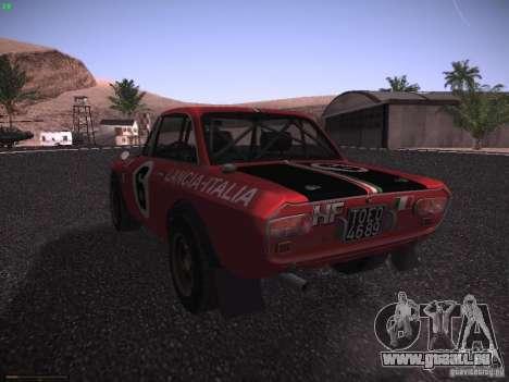 Lancia Fulvia Rally für GTA San Andreas linke Ansicht