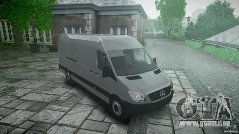 Mercedes Benz Sprinter Long Version für GTA 4 Rückansicht