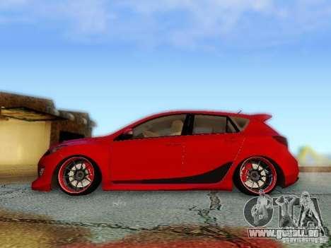 Mazda Speed 3 2010 für GTA San Andreas zurück linke Ansicht