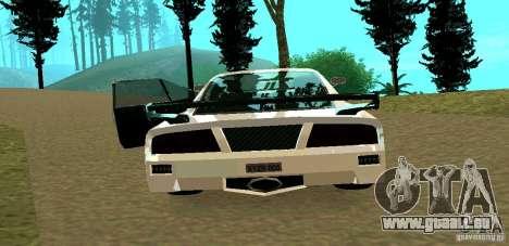 New Turismo pour GTA San Andreas vue arrière