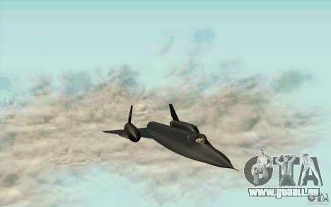 SR-71A BLACKBIRD BETA pour GTA San Andreas