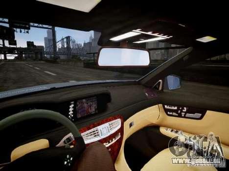 Mercedes-Benz CL65 AMG pour GTA 4 est une vue de l'intérieur