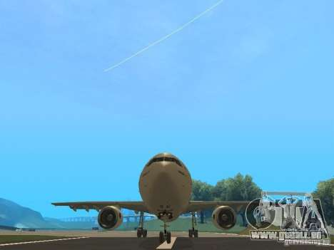 Airbus A300-600 Air France für GTA San Andreas Innenansicht